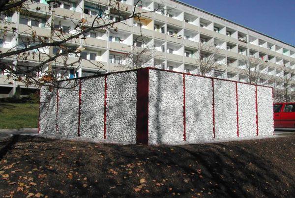 """Containerplatz  """"Carrara"""" Weiß """""""